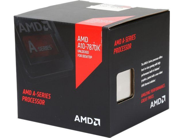 AMD A10-7870K with AMD quiet cooler Quad-Core Socket FM2+ 95W AD787KXDJCSBX Desktop Processor AMD Radeon R7