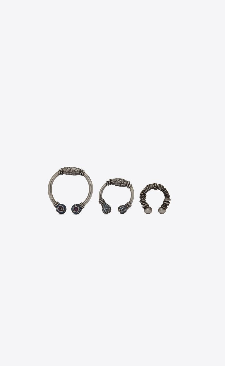 4abd0570640 SAINT LAURENT MARRAKECH BERBER EAR JEWELRY IN SILVER-TONED BRASS. # saintlaurent #