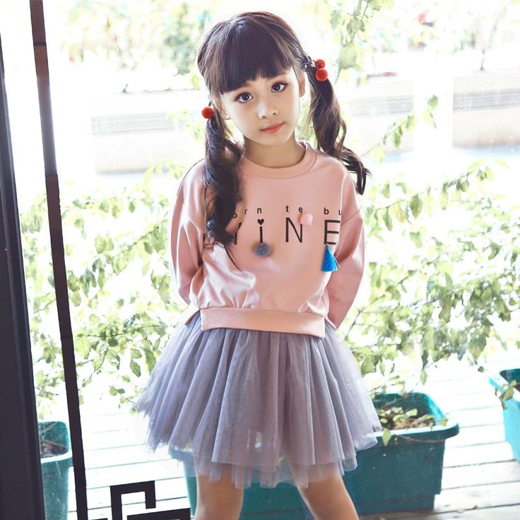 18.18$  Buy now - http://aliqc5.shopchina.info/go.php?t=32777314901 - New Fashion Hoodies With Mesh Dresses For Autumn Girls Patchwork Tassel Letter Clothes Tops Long Sleeve Girls Dress Baby Outfits  #bestbuy