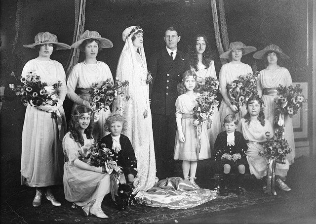 Princess Patricia of Connaught on her wedding day (Lady Patricia Ramsey). One of Queen Victoria's best known grandchildren.