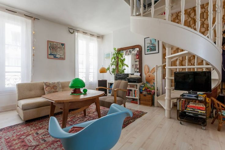 Check out this awesome listing on Airbnb: Charming family duplex Belleville - Apartments for Rent in Paris