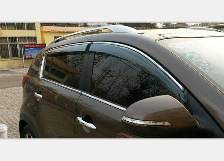 Window Visor Vent Shade Sun Rain Guard Deflector Covers 4pcs For Kia Sportage R 2010-2014