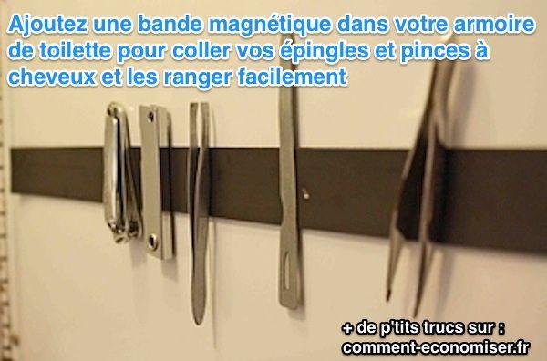 Vous ne savez pas où ranger vos épingles et vos pinces à cheveux ? Votre armoire de toilette est déjà remplie ?  Découvrez l'astuce ici : http://www.comment-economiser.fr/ranger-epingles-pinces-a-cheveux-armoire.html?utm_content=buffer7f9dd&utm_medium=social&utm_source=pinterest.com&utm_campaign=buffer