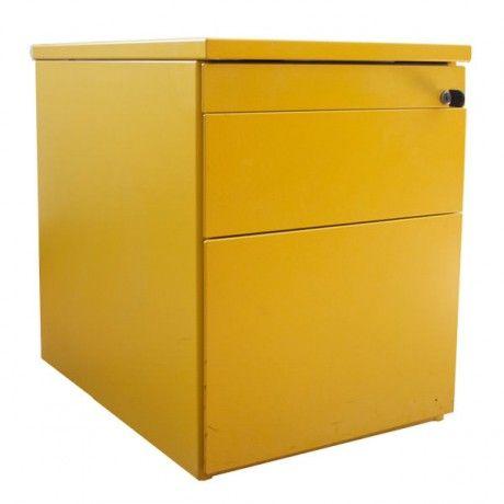 Gebruikt geel ladeblok Officetopper tweedehands ladeblokken