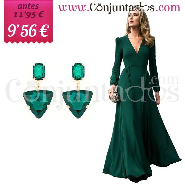 Pendientes Helga de cristal verde ★ ahora solo 9'56 € ★ Cómpralos en https://www.conjuntados.com/es/pendientes/pendientes-medianos/pendientes-helga-de-cristal-verde.html ★ #rebajas #sales #soldes #rabatte #rebaixes #deskontuak #vendas #sconti #pendientes #earrings #conjuntados #conjuntada #joyitas #lowcost #jewelry #bisutería #bijoux #accesorios #complementos #moda #eventos