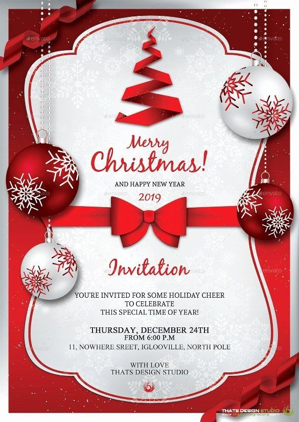 Free Christmas Invitation Templates Word Beautiful Christma… in