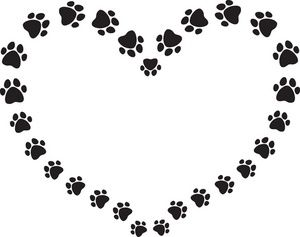 Dog Paw Print Clip Art | black_and_white_puppy_dog_ ...