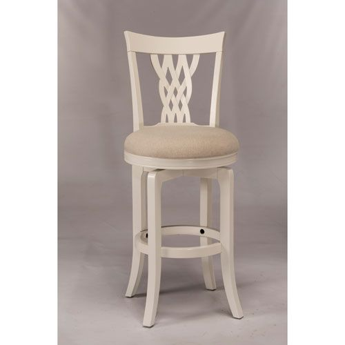 Embassy White Swivel Bar Stool Hillsdale Furniture Bar Height (28 To 36 Inch) Bar Stools K