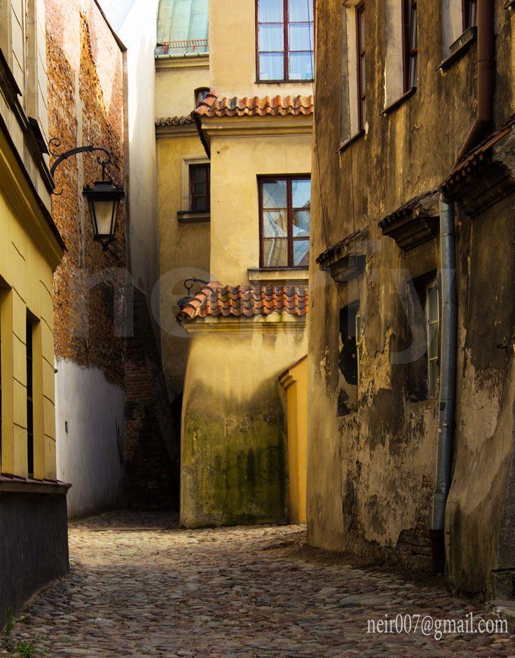 old town street, Lublin, Poland