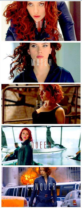 You could be the King, but watch the Queen conquer…  #Avengers #Black Widow