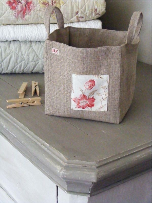 cute fabric bins