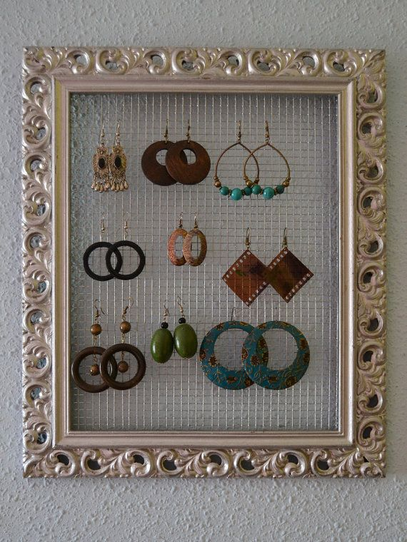 Custom Jewelry Organizer,Jewelry Display - Jewelry Organizer decoration, frame, easy crafts, frame, photo frames, recycle, reuse