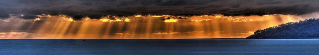Curtain of Crepuscular Rays at Dawn, on June 17, 2013. Taken from Coral Towers Observatory in Australia. Credit and copyright: Joseph Brimacombe.