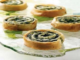 Spinach Roll Appetizer Recipe
