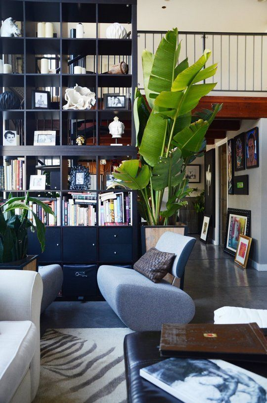 An IKEA Hack of Epic Heights: A Sky-High Stacked Bookcase from KALLAX Shelves | Apartment Therapy Main | Bloglovin'