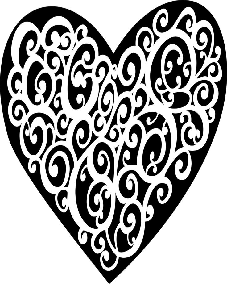 Lace heart valentines day coloring page