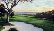 Pebble Beach view from the 10th fairway which is a beautiful view.