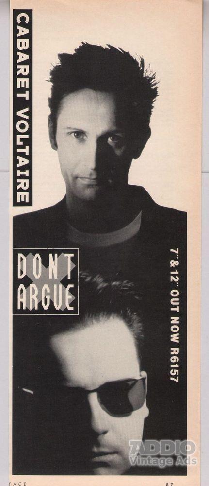 Cabaret Voltaire Dont Argue