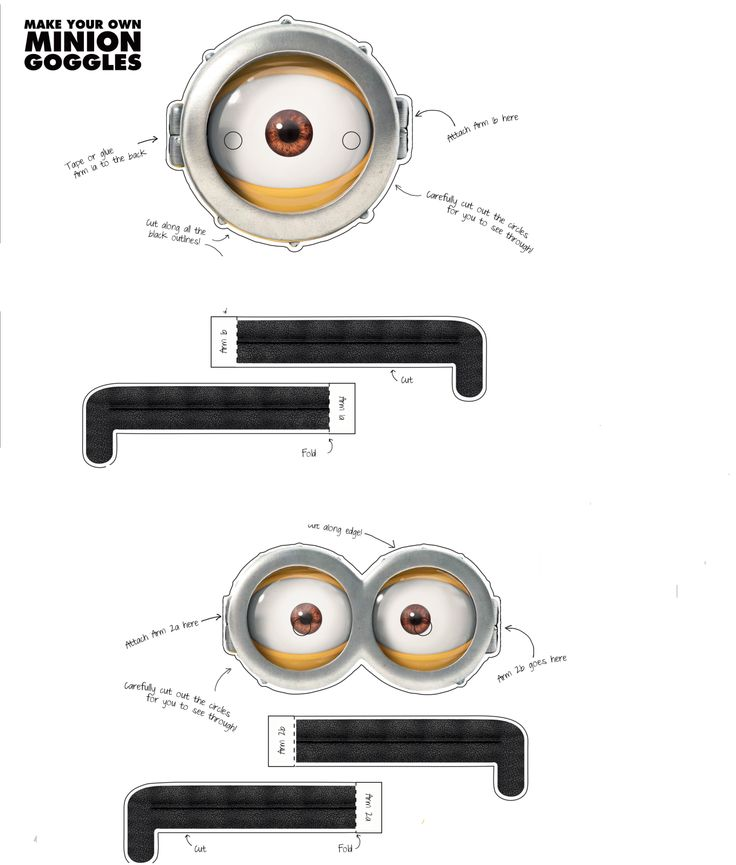 These are the printable minion goggles originally for Minion mask template