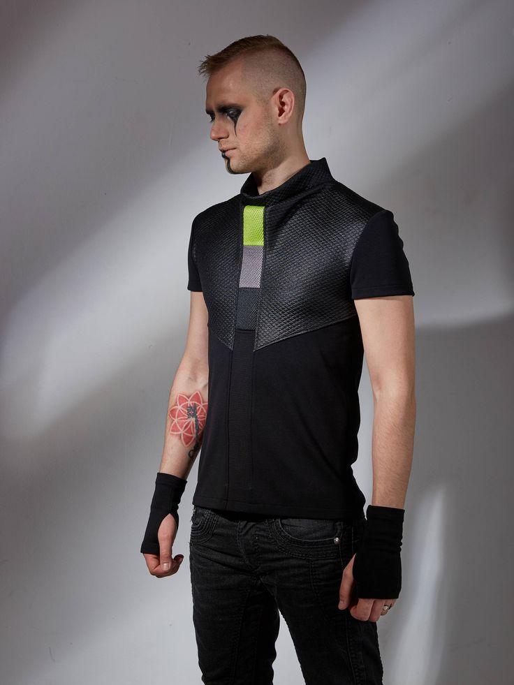 Futuristic shirt, cyberpunk shirt, futuristic clothing, dystopian clothing, cyberpunk fashion, cyber shirt gamer gift, sci fi shirt - CNS g de ZOLNAR en Etsy https://www.etsy.com/mx/listing/538025585/futuristic-shirt-cyberpunk-shirt