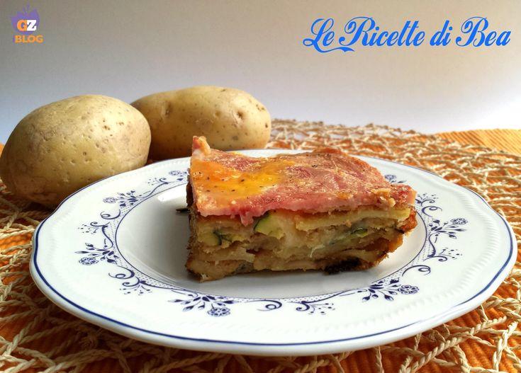 Parmigiana di zucchine e patate, senza friggere