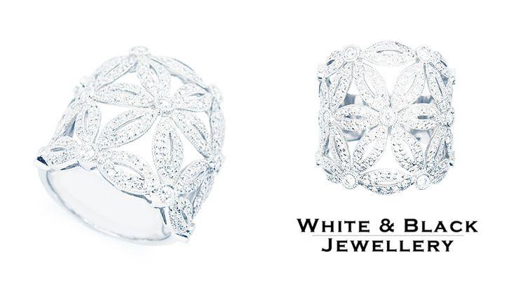 Gyémánt gyűrű 'Fantasy' 1 karátnyi valódi briliánssal készítve - Diamond ring 'Fantasy' with 1 carat of briliant cuts