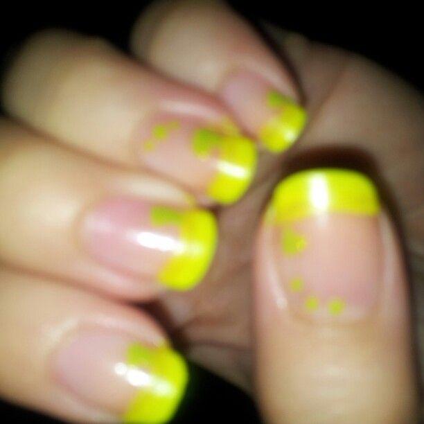 French yellow fluo e puntini cuoricini green