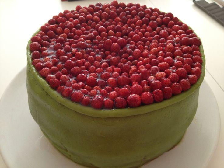 A Wild Strawberry cake