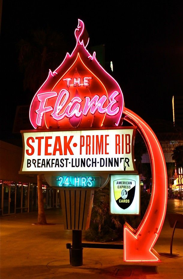The Historic Flame Restaurant Neon Sign
