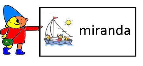 Miranda's lesmaterialen : pompom (schatkist) naamkaartjes