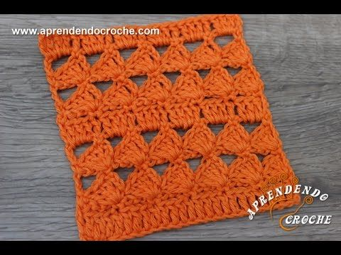 Ponto de Crochê Fantasia - 5 - Tipos de Pontos - Aprendendo Croche