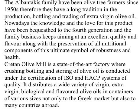 Who we are --- Cretan Olive Mill