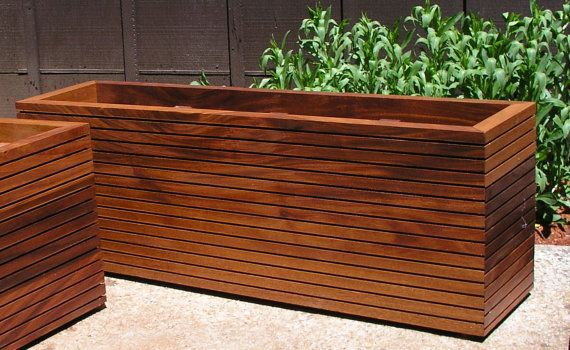 Modern Planter Boxes in Custom Sizes, 75 dollars a cubic foot. Mid Century Modern, Tree Planter Boxes, Raised Redwood Planter, Bespoke.
