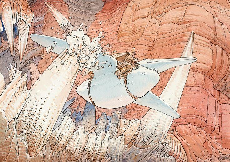メビウス(ジャン・ジロー) インク/水彩/アイロン サイン 《ARZACH L'ARPENTEUR 》                                                                                                                                                                                 もっと見る