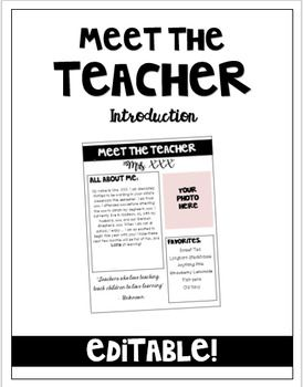 Best 25+ Teacher introduction letter ideas on Pinterest