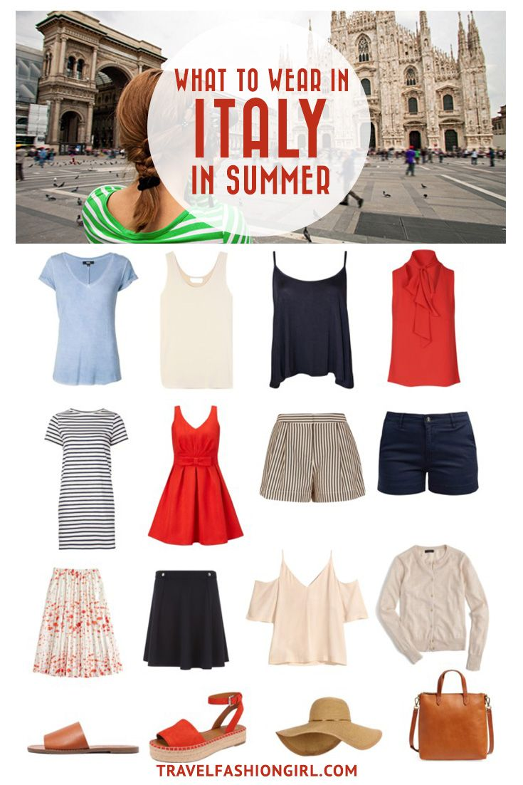 Traveling to Italy in the Summer? Use this comprehensive packing guide to help you pack stylishly light for destinations like Milan, Rome, and Venice. | travelfashiongirl.com