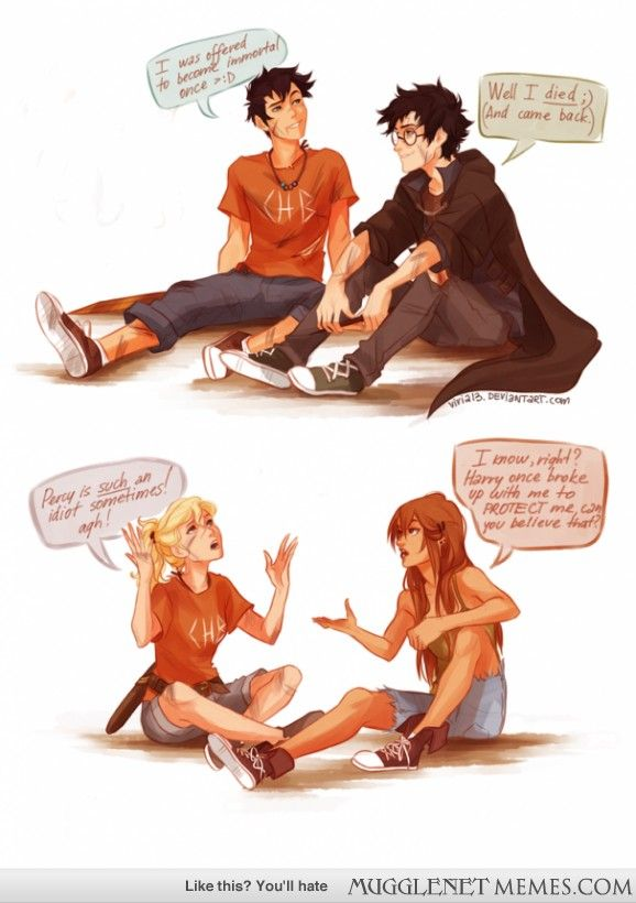 Harry Potter and Percy Jackson meet