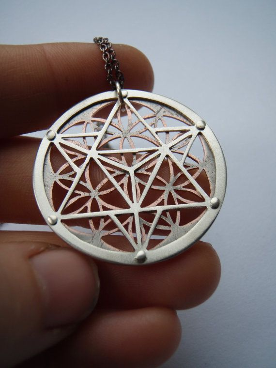 Star Tetrahedron and Flower of Life by JeanBurgersJewellery