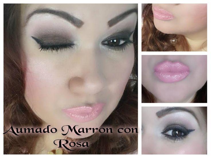 SMOKEY MARRON CON ROSA ,OJOS AUMADOS  MARRON CON ROSA