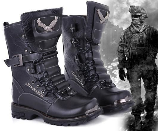2017 new brand men winter motorcycle martin boots fashion army military desert tactical combat warm snow boots size 38-43
