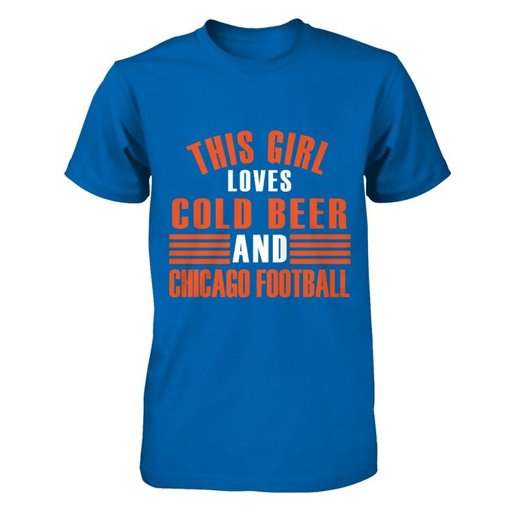 Cold Beer and Chicago Football  #gift $24.99