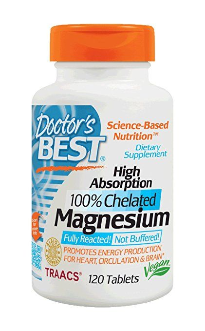£12.95 Doctor's Best High Absorption 100% Chelated Magnesium 120 Tablets. 200mg per tablet. RDA 2 x tablets per day