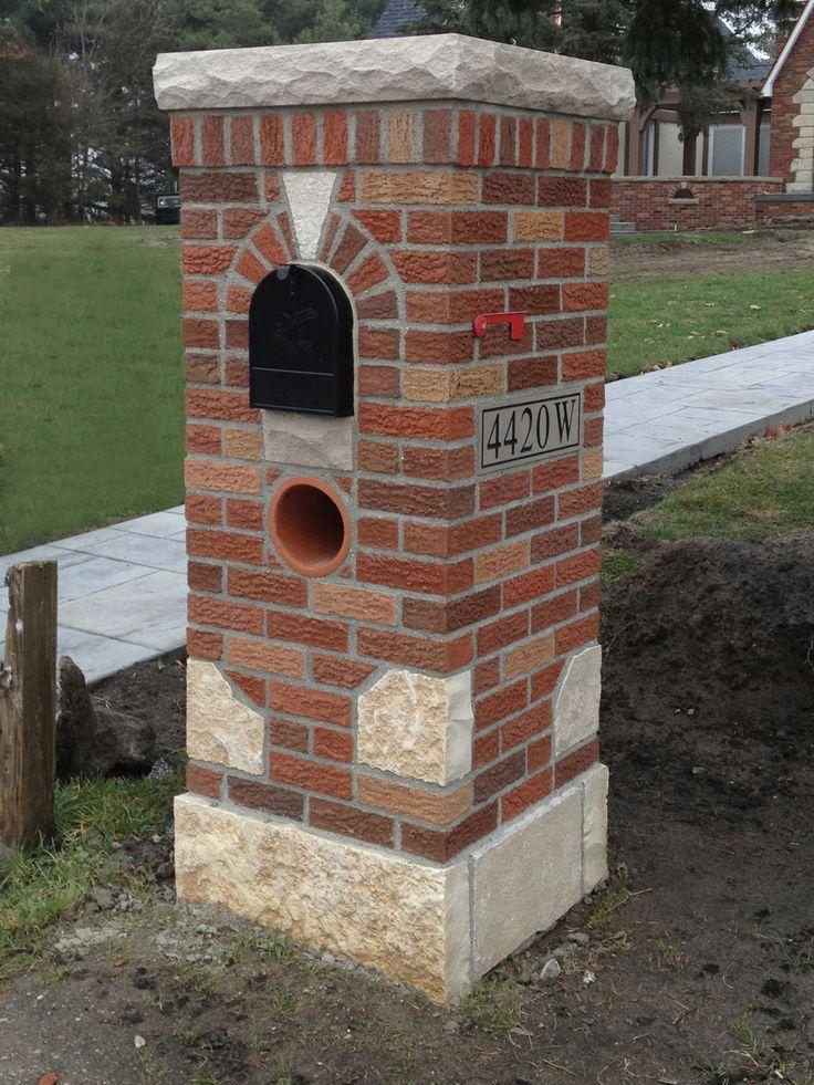 75 best brick mailbox images on pinterest brick mailbox for Masonry ideas