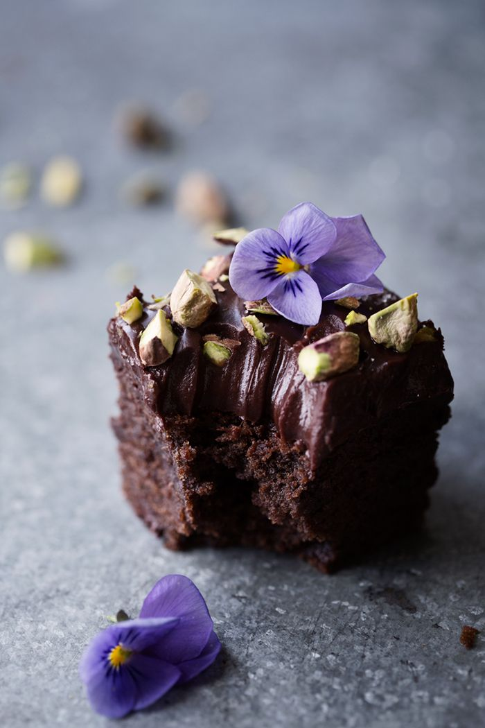 Double Chocolate Brownies with Salted Fudge Frosting | Dagmar's Kitchen
