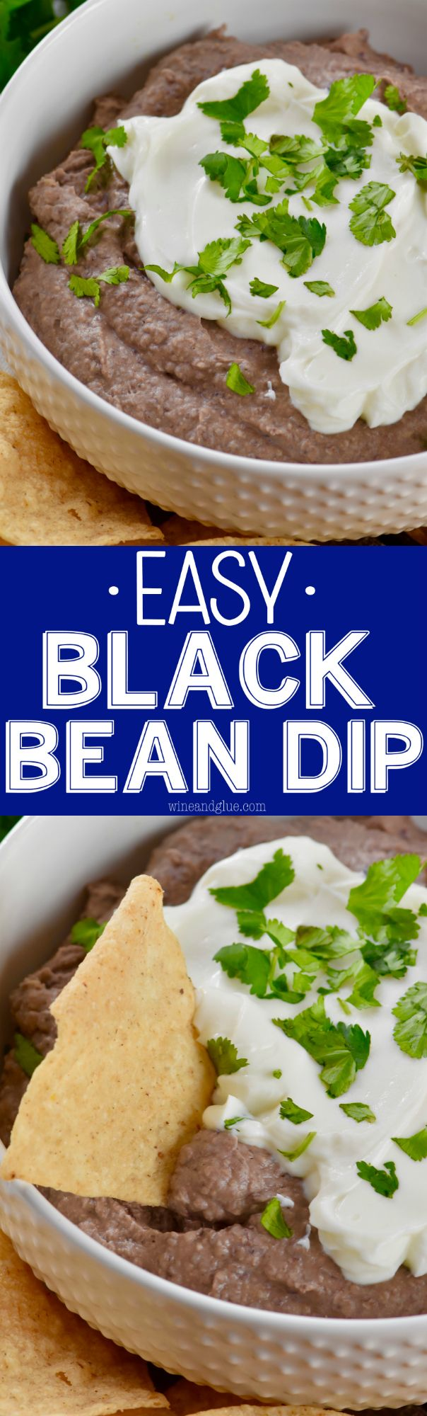 This Easy Black Bean Dip comes together super fast in a food processor or blender, and is full of delicious flavor!