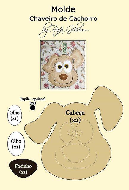 Molde - chaveiro de cachorro | Flickr - Photo Sharing!