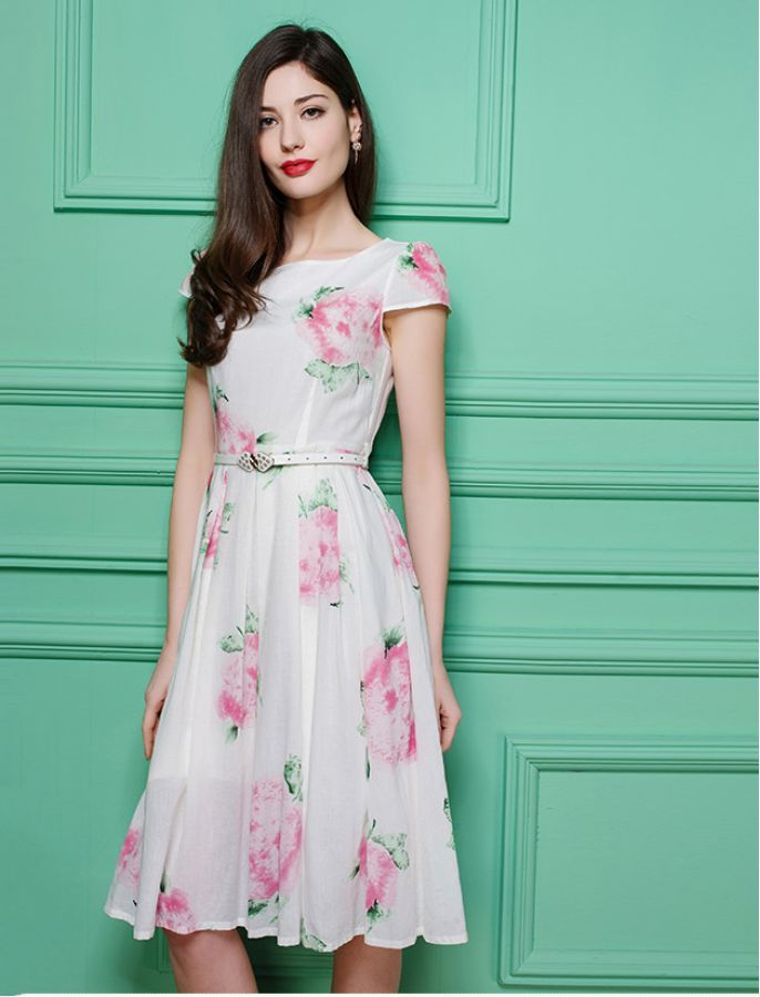 1940s Inspired Too Pretty For Words Floral Retro Dress