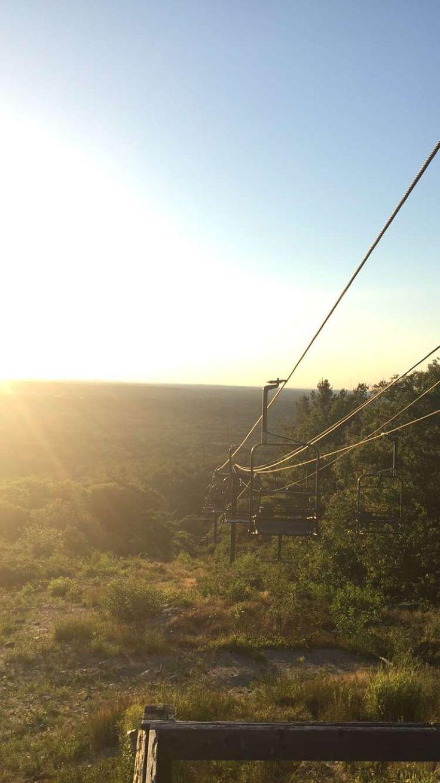 Ski lift at the Blue Hills Reservation in Milton, Massachusetts!