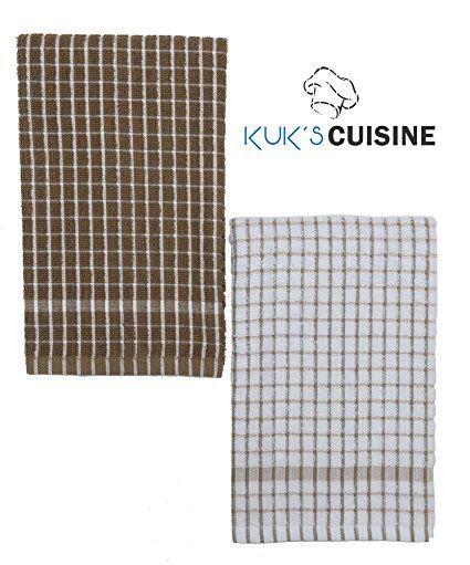 Amazon.com: Kuk de cocina toallas de cocina - ultra absorbente - 100% algodón - Tamaño: JUMBO (25,5 x 17,7 en en) - AKA europeos paños de cocina, trapos de cocina, paños de cocina - patrón de cuadros - Juego de dos (rojo y blanco): hogar y Cocina