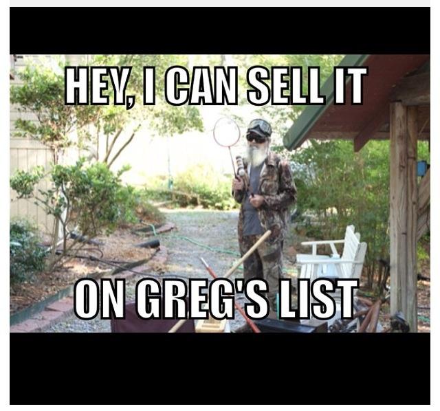 Duck Dynasty   Greg's List...lol